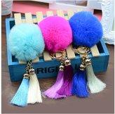 ILOVEDIY Rabbit Fur Fluffy Tassel Pom Pom Keychian Ball Plush