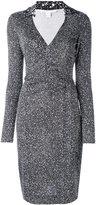 Diane von Furstenberg speckled wrap dress - women - Silk - 4
