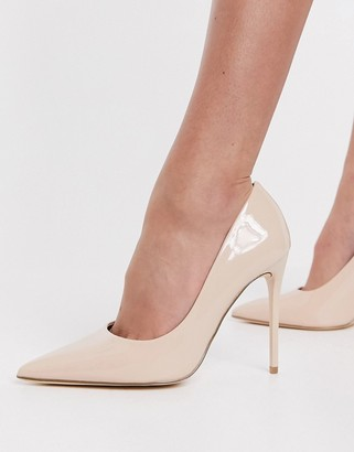 Schuh Stacey stiletto court shoes in blush patent