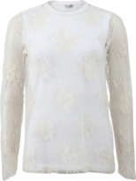 Brunello Cucinelli Lace With Jersey Tank