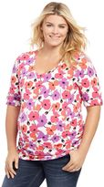 Plus Size Maternity Oh Baby by MotherhoodTM Roll-Cuff Tee