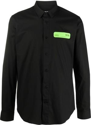 Versace Logo-Patch Shirt