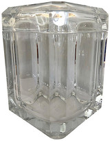 One Kings Lane Vintage Lucite Ice Bucket with Pivoting Lid - nihil novi - clear