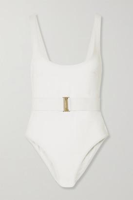 Zimmermann Bells Belted Swimsuit - White