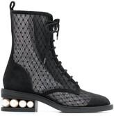 Nicholas Kirkwood Casati mesh ankle boots