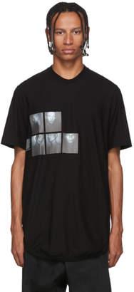 Julius Black Graphic Drop-Tail T-Shirt