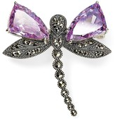 Judith Jack Bejewled Sterling Silver Dragonfly Pin