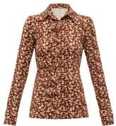 Dodo Bar Or Paya Floral-print Shirt - Womens - Brown White
