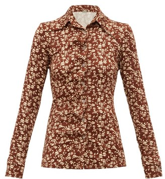 Dodo Bar Or Paya Floral-print Shirt - Brown White