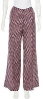 Elizabeth and James Silk Abstract Print Pants