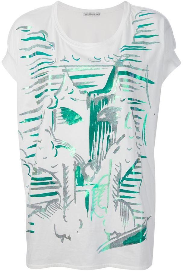 Tsumori Chisato painterly print T-shirt