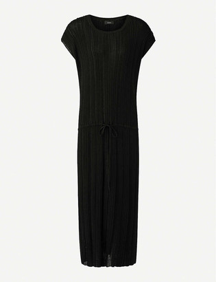Joseph Tyler pleated cotton-blend midi dress