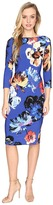 Maggy London Artistic Bloom Jersey Sheath Dress Women's Dress
