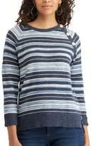 Chaps Women's Striped Button-Shoulder Sweater