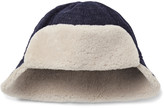 Oliver Spencer Baker Shearling-Trimmed Wool Trapper Hat