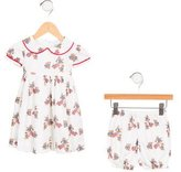 Rachel Riley Girls' Bear Print Dress Set