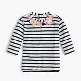 J.Crew Girls' floral sequined striped necklace T-shirt