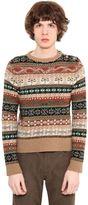 Roberto Cavalli Alpine Intarsia Wool Knit Sweater
