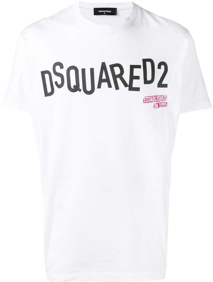 DSQUARED2 contrast logo T-shirt