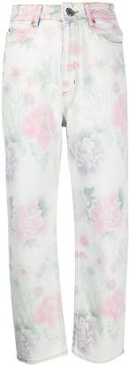 Sandro Paris Flowie floral-print jeans