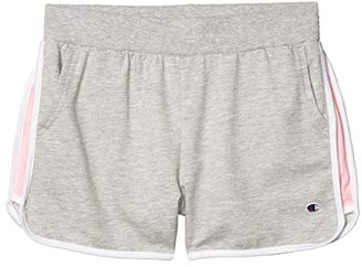 Champion Kids Color-Blocked French Terry Shorts (Big Kids) (Oxford Heather) Girl's Shorts