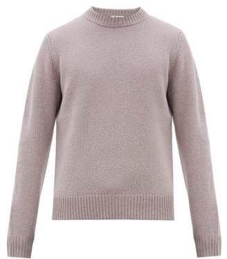 Acne Studios Kai Crew-neck Wool Sweater - Mens - Purple