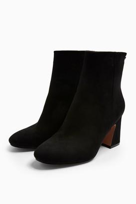 Topshop Womens Belize Black Smart Boots - Black