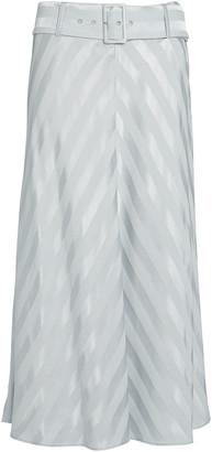 Intermix Isla Belted Midi Skirt