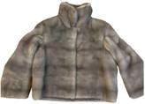 Fendi Grey Mink Jacket for Women