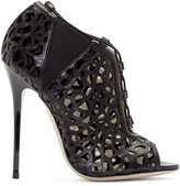 Jimmy Choo Black Cut-out Trace Ankle Boots