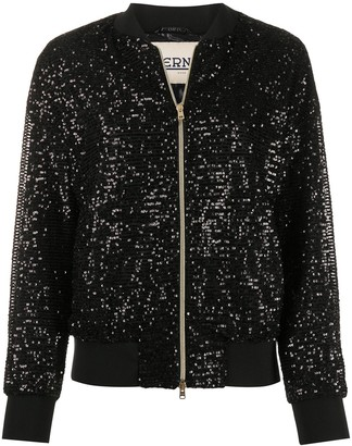 Herno Sequin-Embellished Bomber Jacket