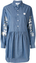 Sold Out Frvr - asymmetric denim shirt dress - women - Cotton - 38