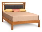 Copeland Furniture Monterey Upholstered Platform Bed Copeland Furniture Size: Full, Frame Color: Natural Cherry, Headboard Color: Dark Brown Microsuede