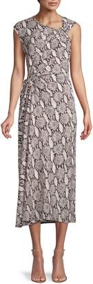 A.L.C. Snakeskin-Print Sleeveless Dress
