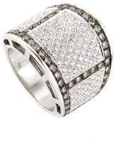 Salvini 18K White Gold with Diamond Band Ring 7.25