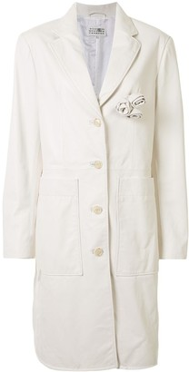 MM6 MAISON MARGIELA Rose Applique Single-Breasted Coat