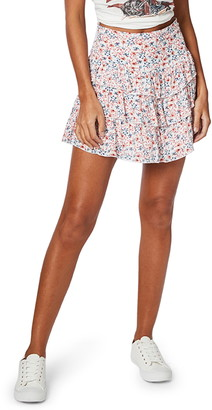 MinkPink Heat Wave Ruffle Miniskirt