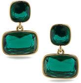 Lauren Ralph Lauren Lauren Treasure Trove Green and 12K Gold-Plated Double Drop Pierced Earrings