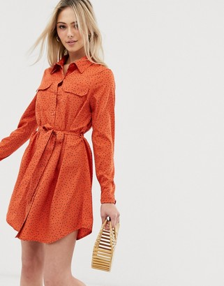 Brave Soul alexia shirt dress in heart print