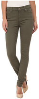 7 For All Mankind Mid Rise Skinny with Contour Waistband in Fatigue