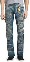 Robin's Jeans Super Distressed Denim Jeans, Blue