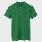 Paul Smith Men's Slim-Fit Green Mercerised-Cotton PS Logo Polo Shirt
