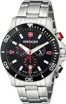 Wenger Men's 0643.101 Analog Display Swiss Quartz Silver Watch
