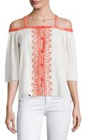 Bailey 44 Rose Water Embroidered Top