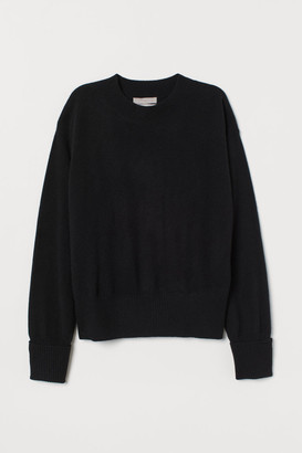H&M Fine-knit Cashmere Sweater - Black