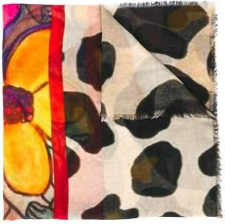 D'aniello floral print scarf