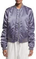 Acne Studios Oversized Satin Bomber Jacket, Light Purple