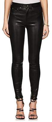 Rag & Bone Women's High Rise Skinny Leather Jeans - Black