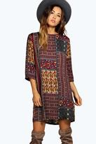 Boohoo Jolie Paisley Shift Dress