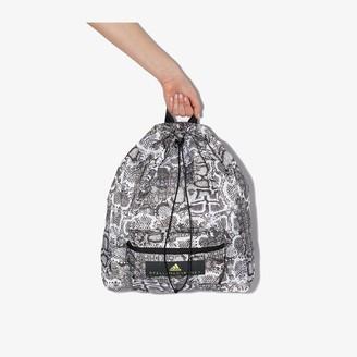 adidas by Stella McCartney Black and white snake print backpack